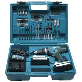 Perceuse-visseuse à percussion sans fil Makita HP457DWE10 18 V + 2 batteries 1,5 Ah + accessoires pas cher Principale M