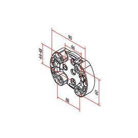 Support moteur  diamètre 45  C901 photo du produit