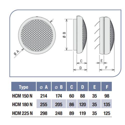 Aérateur de vitre Unelvent série HCM.N photo du produit Secondaire 1 L