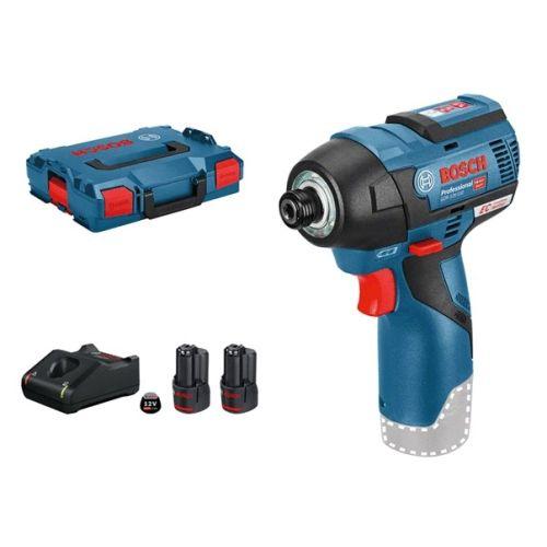 Visseuse à chocs Bosch GDR 12V-110 + 2 batteries 3Ah + chargeur GAL 12V-40 + coffret L-BOXX photo du produit