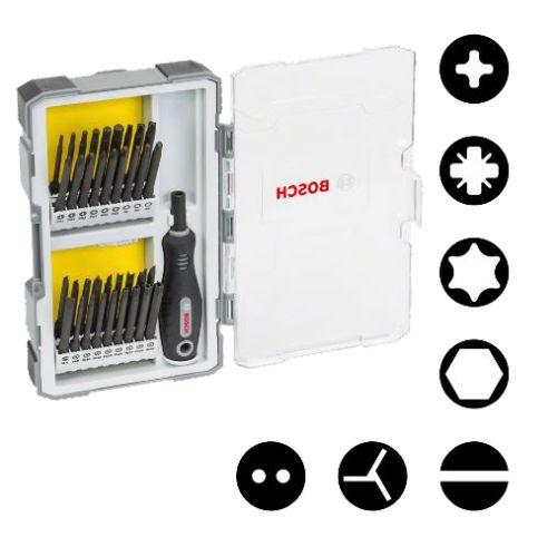 Coffret de vissage Bosch Extra Hard 37 pièces avec poignée photo du produit