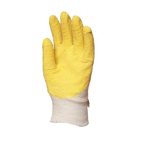 Gants de travail latex crêpé jaune Eurotechnique MO3800 photo du produit Secondaire 1 L