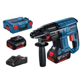 Perforateur SDS+ sans-fil Bosch GBH 18V-21 18 V + 2 batteries 4 Ah + chargeur + L-Boxx pas cher