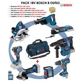 PACK 18V 8 OUTILS (GKS18/GDR20/GSR60/GBH26/GWS18/GSA18) SAC photo du produit