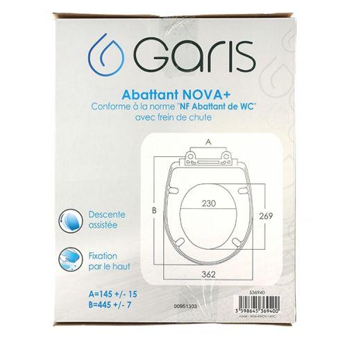 Abattant WC thermodur Garis avec frein de chûte Nova+ photo du produit Secondaire 6 L
