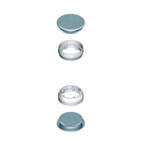 Paire de bouchons finition inox pour DIVA V/VI - LA CROISEE DS - DS6958-P pas cher