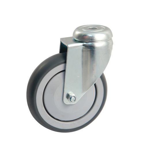 Roulette grise platine ronde 100mm pivotante - AVL - 550882O pas cher Principale L