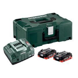 Set de base 2 batteries Metabo LiHD 18 V/4 Ah + chargeur ASC 145 + coffret Metaloc II photo du produit