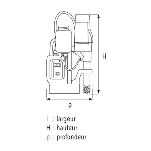 Perceuse à base magnétique Sidamo 35 PM HPR photo du produit Secondaire 2 L