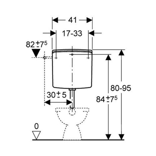 Réservoir Garis semi-bas photo du produit Secondaire 1 L