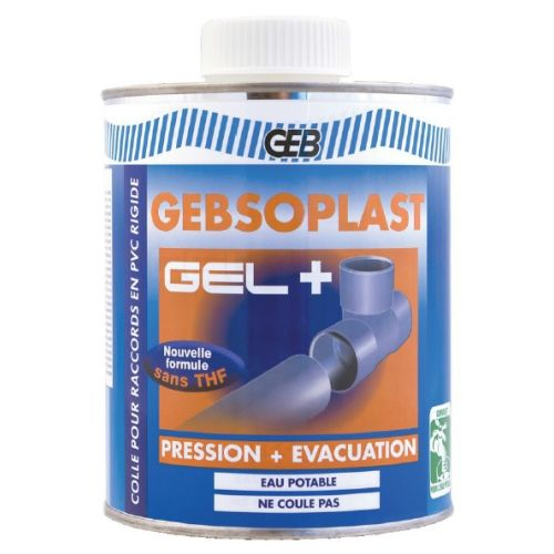 Colle PVC Gebsoplast Gel Plus 1 litre - GEB - 504746 pas cher Principale L
