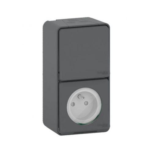 Interrupteur Schneider + prise de courant 2P+T photo du produit