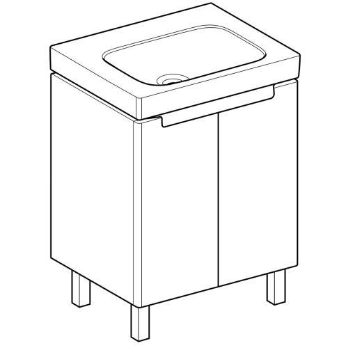 Ensemble meuble salle de bain avec vasque céramique blanc photo du produit Secondaire 9 L