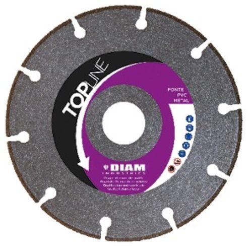 Disque diamant diamètre 125 x 22,23 mm pour acier et inox - segment de 4 mm - DIAM INDUSTRIES - SPI125 pas cher Principale L