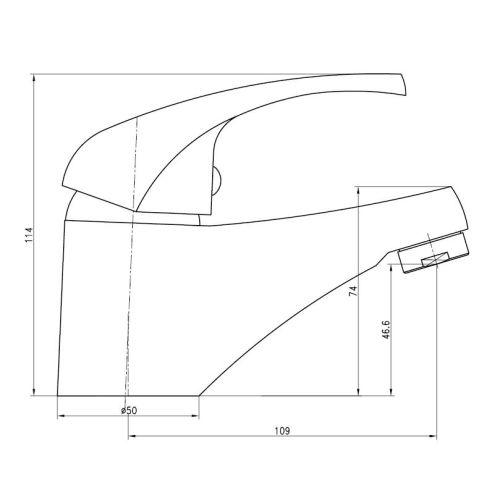 Mitigeur de lavabo Nova - GARIS - R01-13005CR pas cher Secondaire 3 L