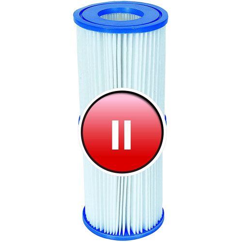 Lot de 4 cartouches pour pompe de filtration Taille 2 - BESTWAY pas cher Principale L