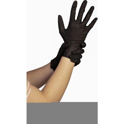 Boîte de 100 gants nitrile poudrés, couleur selon arrivage taille L - 8807777L pas cher Principale L