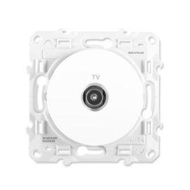 Prises TV, téléphone et réseau blanches photo du produit