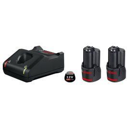 Set de base 2 batteries GBA 12V 3.0Ah + GAL 12V-40 en boîte carton - BOSCH - 1600A019RD pas cher Principale M