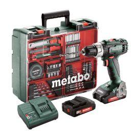 Perceuse-visseuse sans-fil Metabo BS 18 L SET + 2 batteries Li-Power 18 V 2 Ah + chargeur SC 30 photo du produit