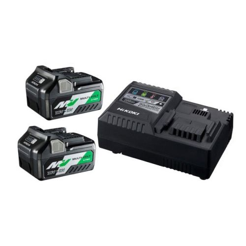 Pack de 2 batteries Multi-Volt 18/36 V et chargeur Hikoki UC18YSL3WEZ photo du produit