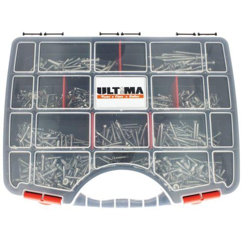 Coffret de 600 vis autoperceuses à tête fraisée inox A2 - ULTIMA - COF157 pas cher Secondaire 1 L