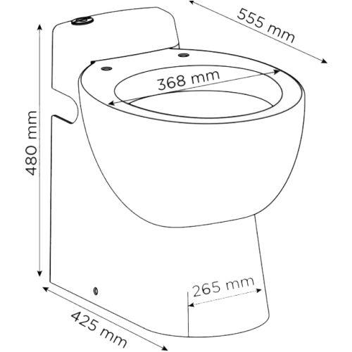 Cuvette WC à broyeur intégré SFA Sanicompact Pro photo du produit Secondaire 1 L