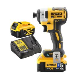 Visseuse à chocs sans fil Dewalt XR BL Tool Connect DCF888P2B 18 V + 2 batteries XR 5 Ah + chargeur photo du produit