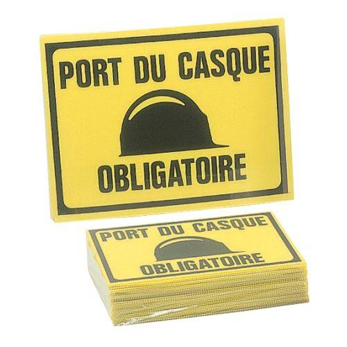 """Panneau éco """"Port du casque obligatoire"""" photo du produit"""