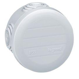Boîte de dérivation ronde Plexo Ø70mm hauteur 45mm - gris RAL7035 LEGRAND pas cher
