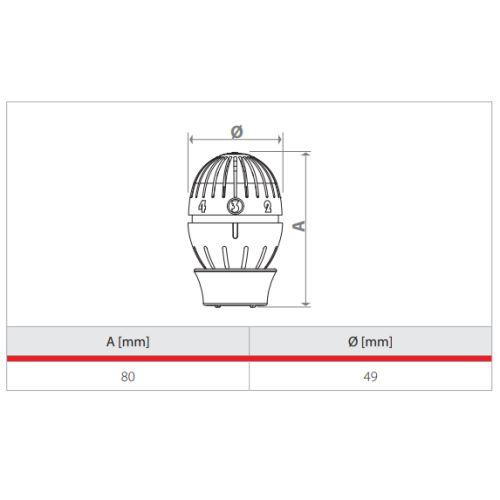 Tête thermostatique à bulbe liquide Giacomini R470 photo du produit Secondaire 1 L