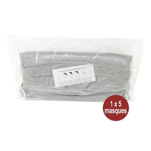 Masque de protection alternatif lavable 100% coton (30 lavages) photo du produit