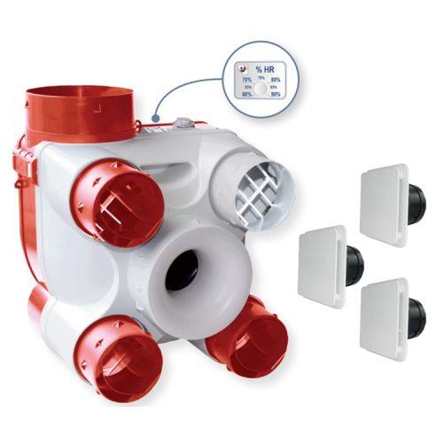 Kit VMC à détection d'humidité Unelvent Deco DHU photo du produit