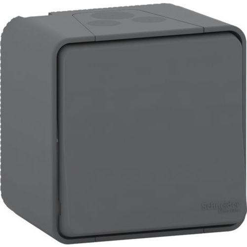 Interrupteur va et vient Mureva styl 10a modèle simple saillie couleur gris - SCHNEIDER - SHN0212449 pas cher Principale L