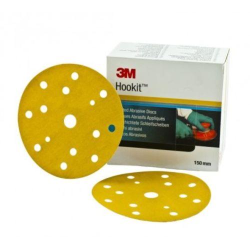 Boîte de 100 disques abrasifs support papier de diamètre 150 mm 9 trous GR 180 Hookit 255P - 3M - 63346 pas cher Secondaire 1 L
