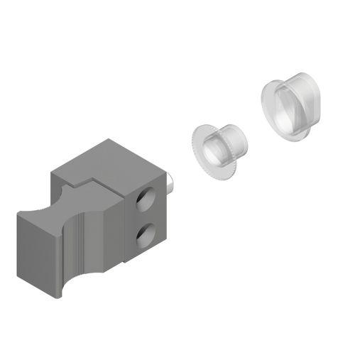 Arrêt de vantail pour coulissant aluminium photo du produit Secondaire 3 L