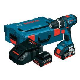 Perceuse-visseuse sans-fil Bosch GSR18V-28 18 V + 2 batteries 4,0 Ah + chargeur + coffret L-Boxx pas cher