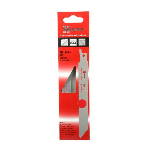 2 lames pour scie sabre (SM15014) - HANGER - 150301 pas cher Secondaire 2 L