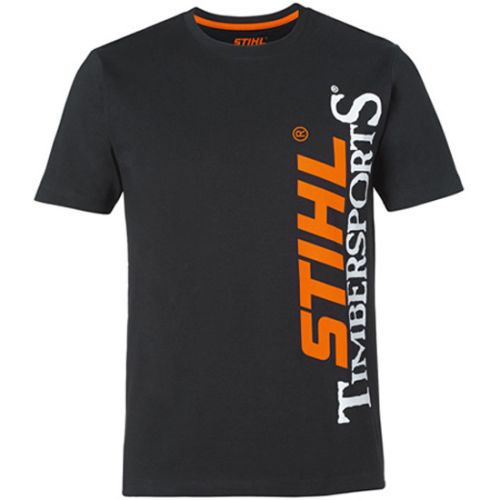 T-shirt noir homme taille L - STIHL - 0420-500-0156 pas cher