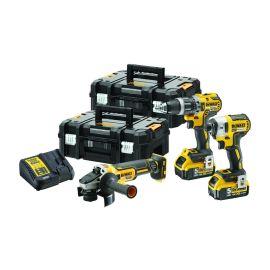 Pack de 3 outils sans-fil Dewalt (DCF + DCD + DCG)  18 V + 2 batteries 5 Ah + chargeur + TSTAK pas cher Principale M