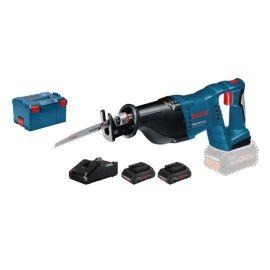 Scie sabre sans fil Bosch GSA 18 V-LI 18 V + 2 batteries ProCore 18 V 4.0 Ah + chargeur + L-Boxx pas cher Principale M
