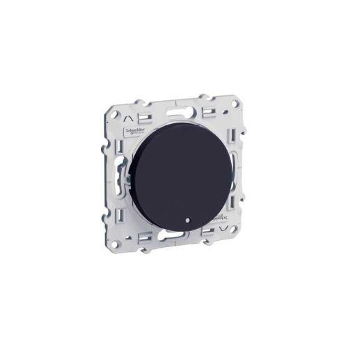 Poussoir lumineux ODACE anthracite 10 A à vis LED bleu - SCHNEIDER ELECTRIC - S546276 pas cher Principale L