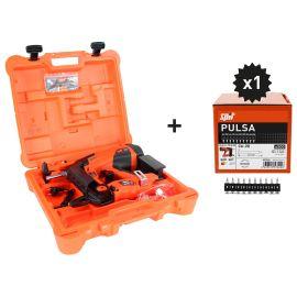 Pack Cloueur PULSA 40P+ 500 clous C6-20 (machine complète) en mallette plastique - SPIT - 019323 pas cher