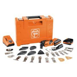 Scie oscillante sans-fil Fein 18 V AMM 700 Max Top + 2 batteries 3 Ah + chargeur ALG 80 + coffret pas cher