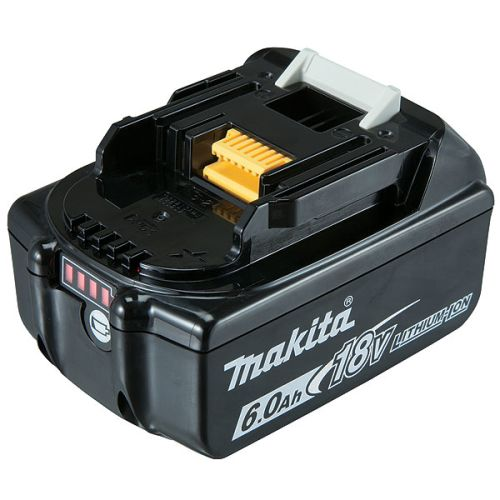 Batterie Makita Li-Ion 18V 6Ah avec témoin de charge BL1860B photo du produit