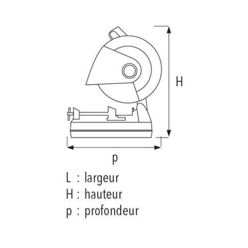 Tronçonneuse de chantier à disque abrasif Sidamo MCS 350 A photo du produit Secondaire 1 L