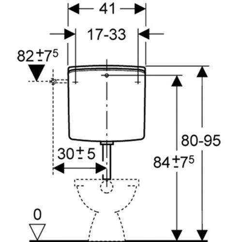 Réservoirs GEBERIT apparents bas et mi-hauteur photo du produit Secondaire 3 L
