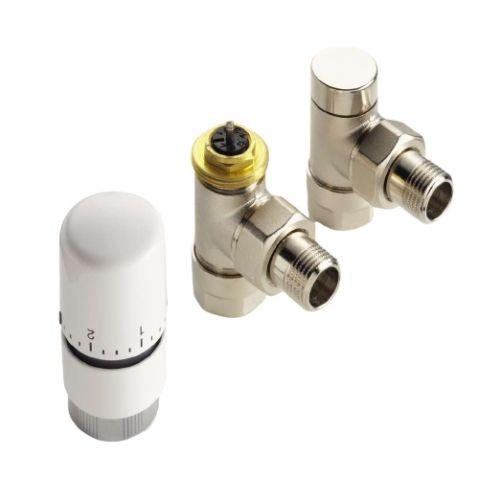 Kit robinetterie thermostatique équerre blanc - ACOVA - 841128 pas cher Principale L