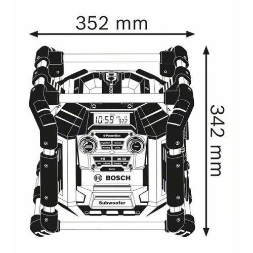Chargeur radio GML 50 (machine seule) en boîte carton - BOSCH - 06014296W0 pas cher Secondaire 1 L