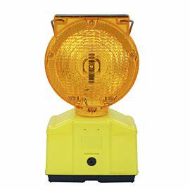 Lampe de chantier solaire clignotante auto photo du produit